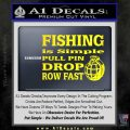 Fishing Is Simple Pull Pin Decal Sticker Yellow Laptop 120x120
