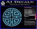 Four Blessing Feng Shui Decal Sticker Light Blue Vinyl 120x97