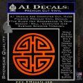 Four Blessing Feng Shui Decal Sticker Orange Emblem 120x120