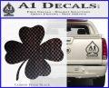 Four Leaf Clover Decal Sticker Carbon FIber Black Vinyl 120x97