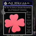Four Leaf Clover Decal Sticker Pink Emblem 120x120