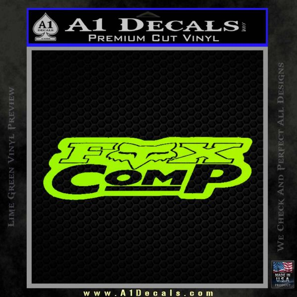 Fox Comp Decal Sticker Lime Green Vinyl