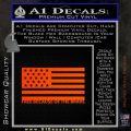 Free Because Of The Brave Decal Sticker Orange Emblem 120x120