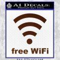 Free WiFi Custom Decal Sticker BROWN Vinyl 120x120