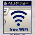 Free WiFi Custom Decal Sticker Blue Vinyl 120x120