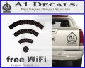 Free WiFi Custom Decal Sticker Carbon FIber Black Vinyl 120x97