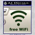 Free WiFi Custom Decal Sticker Dark Green Vinyl 120x120