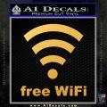 Free WiFi Custom Decal Sticker Gold Vinyl 120x120