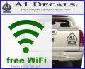 Free WiFi Custom Decal Sticker Green Vinyl Logo 120x97
