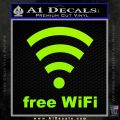 Free WiFi Custom Decal Sticker Lime Green Vinyl 120x120