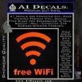 Free WiFi Custom Decal Sticker Orange Emblem 120x120