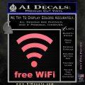 Free WiFi Custom Decal Sticker Pink Emblem 120x120