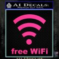 Free WiFi Custom Decal Sticker Pink Hot Vinyl 120x120