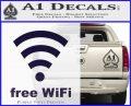 Free WiFi Custom Decal Sticker PurpleEmblem Logo 120x97
