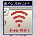 Free WiFi Custom Decal Sticker Red 120x120