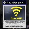 Free WiFi Custom Decal Sticker Yellow Laptop 120x120