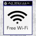 Free WiFi Decal Sticker Custom Black Vinyl 120x120