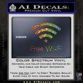 Free WiFi Decal Sticker Custom Glitter Sparkle 120x120