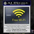 Free WiFi Decal Sticker Custom Yellow Laptop 120x120