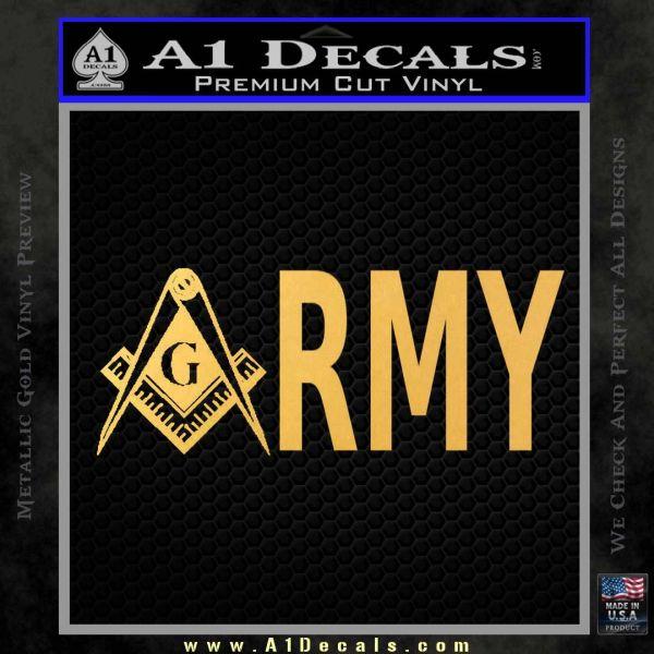 Freemason Army Decal Sticker 187 A1 Decals