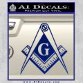 Freemason Compass G Decal Sticker Blue Vinyl 120x120