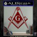 Freemason Compass G Decal Sticker DRD Vinyl 120x120