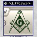 Freemason Compass G Decal Sticker Dark Green Vinyl 120x120