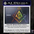 Freemason Compass G Decal Sticker Glitter Sparkle 120x120