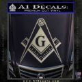 Freemason Compass G Decal Sticker Metallic Silver Emblem 120x120