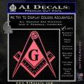 Freemason Compass G Decal Sticker Pink Emblem 120x120