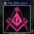 Freemason Compass G Decal Sticker Pink Hot Vinyl 120x120