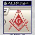 Freemason Compass G Decal Sticker Red 120x120