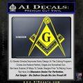 Freemason Compass G Decal Sticker Yellow Laptop 120x120