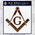Freemason Compass Ruler Decal Sticker G BROWN Vinyl 120x120
