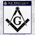 Freemason Compass Ruler Decal Sticker G Black Vinyl 120x120