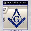 Freemason Compass Ruler Decal Sticker G Blue Vinyl 120x120