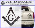 Freemason Compass Ruler Decal Sticker G Carbon FIber Black Vinyl 120x97