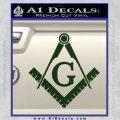 Freemason Compass Ruler Decal Sticker G Dark Green Vinyl1 120x120