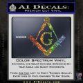 Freemason Compass Ruler Decal Sticker G Glitter Sparkle1 120x120
