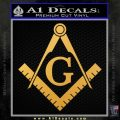 Freemason Compass Ruler Decal Sticker G Gold Vinyl1 120x120