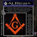 Freemason Compass Ruler Decal Sticker G Orange Emblem1 120x120