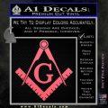 Freemason Compass Ruler Decal Sticker G Pink Emblem1 120x120