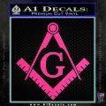 Freemason Compass Ruler Decal Sticker G Pink Hot Vinyl1 120x120