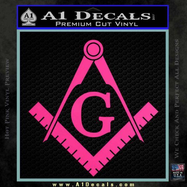 Freemason Compass Ruler Decal Sticker G 187 A1 Decals