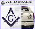 Freemason Compass Ruler Decal Sticker G PurpleEmblem Logo1 120x97