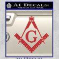 Freemason Compass Ruler Decal Sticker G Red1 120x120
