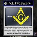 Freemason Compass Ruler Decal Sticker G Yellow Laptop1 120x120