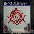 Freemason Masonic G Decal Sticker DRD Vinyl 120x120