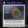 Freemason Masonic G Decal Sticker Glitter Sparkle 120x120