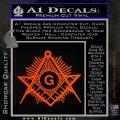 Freemason Masonic G Decal Sticker Orange Emblem 120x120